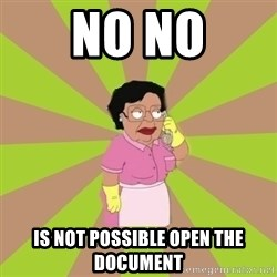 Consuela Family Guy - NO NO is not possible open the document