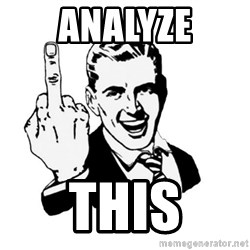 middle finger - Analyze This