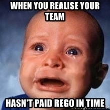 Very Sad Kid - When you realise Your team  hasn't paid rego in time