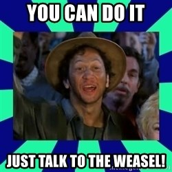 You can do it! - You can do it Just talk to the weasel!
