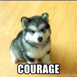 Baby Courage Wolf -  Courage