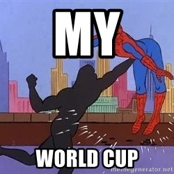 crotch punch spiderman - My World cup