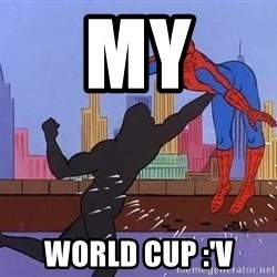 crotch punch spiderman - My World cup :'v