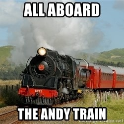 Success Train - All aboard The Andy train