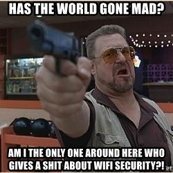 WalterGun - Has The World Gone Mad? AM I The Only One Around Here Who Gives A Shit About WiFi Security?!