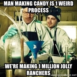 breaking bad - Man making candy is 1 weird process We're making 1 million Jolly Ranchers
