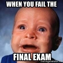 Very Sad Kid - when you fail the   final exam