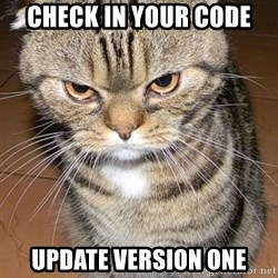 angry cat 2 - check in your code update version one