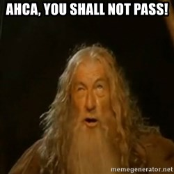 Gandalf You Shall Not Pass - AHCA, You Shall Not PASS!