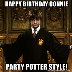 Harry Potter Come At Me Bro -  happy birthday connIE  party potter style!