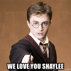Harry Potter spell -  we love you shaylee
