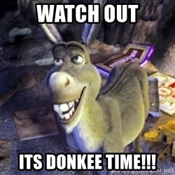 Donkey Shrek - Watch out Its donkee time!!!
