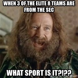 What Year - When 3 of the elite 8 teams are from the SEC What sport is it?!??