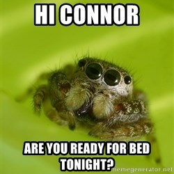 The Spider Bro - Hi Connor Are you ready for bed tonight?