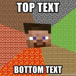 Minecraft Guy - TOP TEXT BOTTOM TEXT