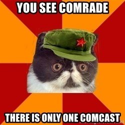 Communist Cat - you see comrade there is only one comcast