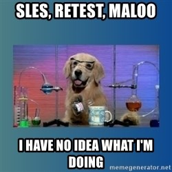 Chemistry Dog - sles, retest, maloo I have no IDEA what i'm doing