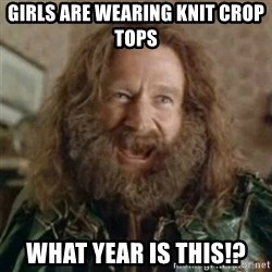 What Year - Girls are wearing knit crop tops What year Is this!?
