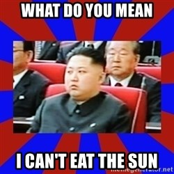 kim jong un - What Do You mean I Can't eat the sun