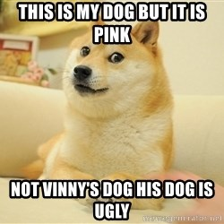 so doge - This is my dog but it is pink Not Vinny's dog his dog is ugly