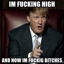 Donald Trump - im fucking high and now im fuckig bitches
