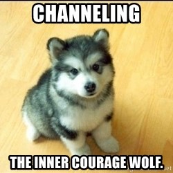 Baby Courage Wolf - Channeling The inner courage wolf.