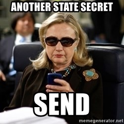 Hillary Clinton Texting - another state secret send