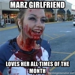 Scary Nympho - Marz girlfriend loves her all times of the month