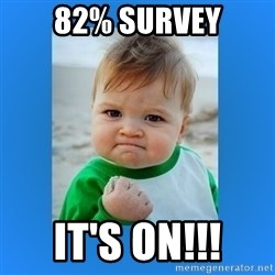 yes baby 2 - 82% Survey IT'S ON!!!