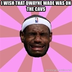 LeBron James - i wish that dwayne wade was on the cavs