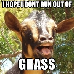 Illogical Goat - i hope i dont run out of Grass
