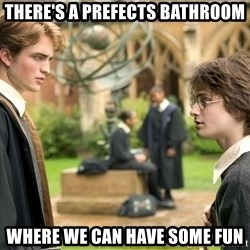 Harry Potter  - THERE'S A PREFECTS BATHROOM WHERE WE CAN HAVE SOME FUN