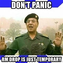 Comical Ali - Don't panic RM drop is just temporary