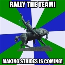 ufa - rally the team! making strides is coming!