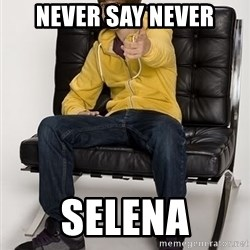 Justin Bieber Pointing - never say never selena