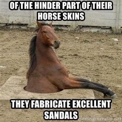 Hole Horse - Of the hinder part of their horse skins  THEY FABRICATE EXCELLENT SANDALS
