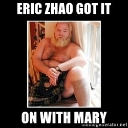 Sexy Scotsman - Eric Zhao got it on with mary