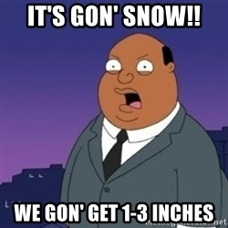 Ollie the Weatherman - IT'S GON' SNOW!! WE GON' GET 1-3 inches