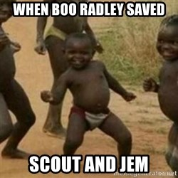 Black Kid - when boo radley saved scout and jem