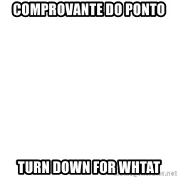 Deal With It - Comprovante do ponto turn down for whtat
