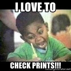 Black kid coloring - i love TO check prints!!!