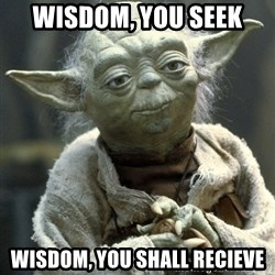 Yodanigger - Wisdom, you seek Wisdom, you shall recieve