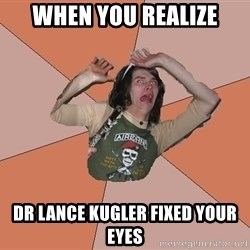 Scared Bekett - When you reAlize Dr Lance Kugler Fixed your eyes
