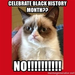 No cat - Celebrate black history month?? NO!!!!!!!!!!