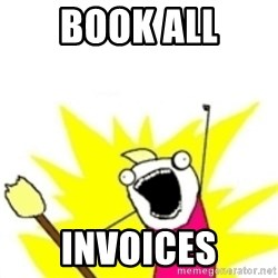 x all the y - Book all invoices