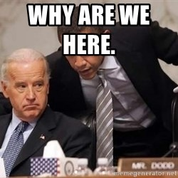 Obama Biden Concerned - why are we here.