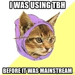 Hipster Kitty - I Was USING TBH  Before IT was Mainstream
