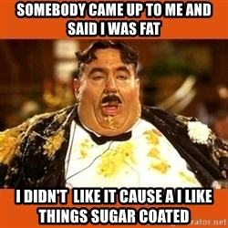 Fat Guy - Somebody came up to me and said I was fat I didn't  like it cause a I like things sugar COATED