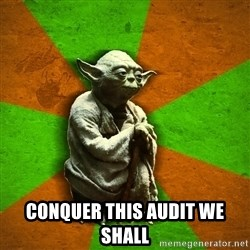 Yoda Advice  -  conquer this audit we shall