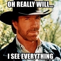 Chuck Norris Pwns - oH REALLY WILL... I SEE EVERYTHING